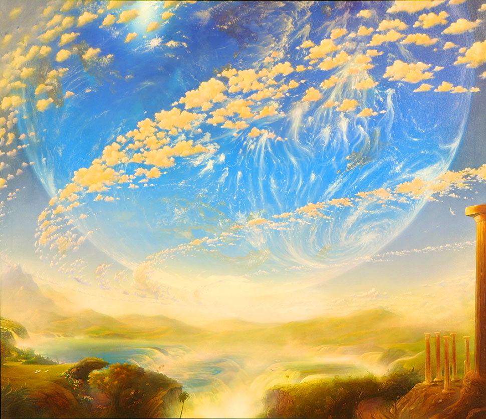 Visionary Art  TwinWorlds-med